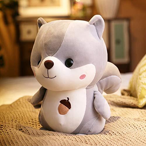 Hunpta @ 25cm Süßes Plüschtiere Karikatur Eichhörnchen Plüsch Spielzeug Kuscheltier Puppe Dekokissen Geburtstag Weihnachten für Junge Mädchen