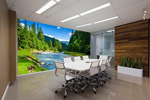 Life Decor Fond d'écran Photo PVC - Autocollant Mural Autocollant ECO Mural - Autocollant Mural 3D en Vinyle - Rivière de Montagne SW252(300x210CM)