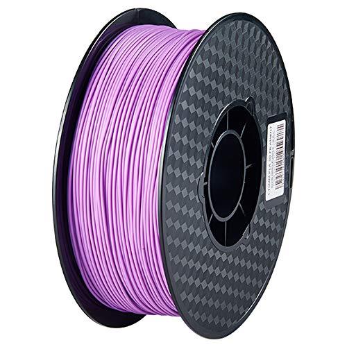 PLA 3D Printer Filament, FUSHI PLA Filament 1.75mm, Dimensional Accuracy +/- 0.02 mm, 1 kg Spool, 1.75mm, White, Pack of 1PC (Purple)