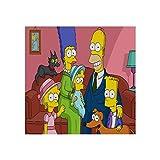 Lienzo para pared, listo para colgar, diseño de Simpsons Tv Show, pósteres, impresiones abstractas de arte de pared sin marco, 20 x 40 cm