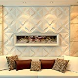yazi - Panel de pared 3D con efecto 3D, papel pintado para sala de estar, tienda, fondo de TV, trébol blanco, 300 x 300 mm