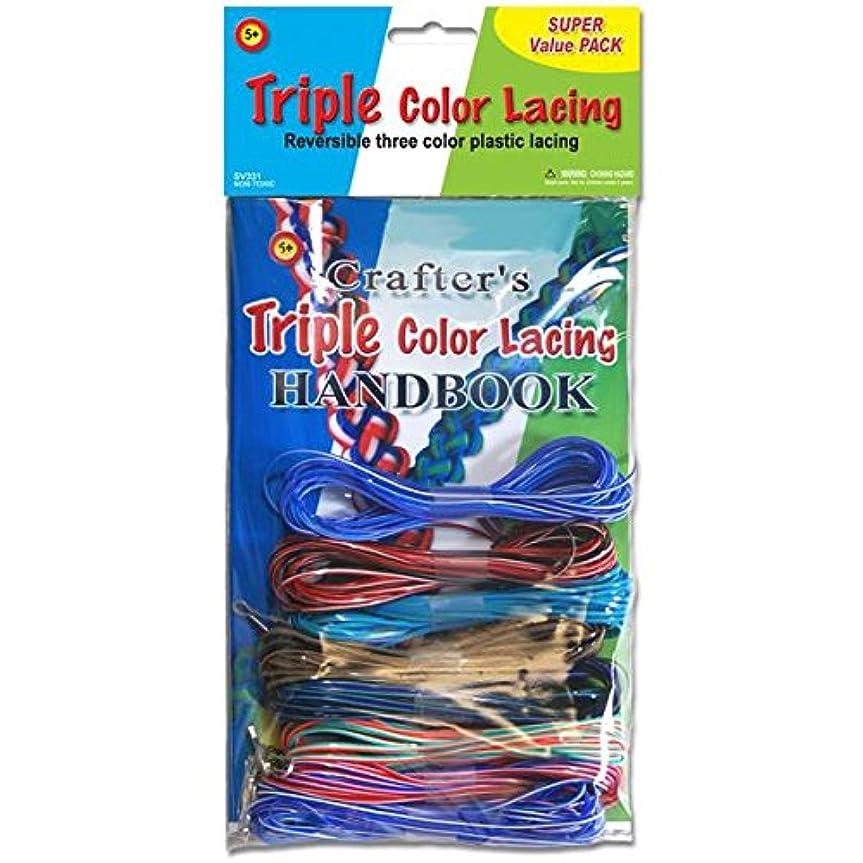 戦略区別おなかがすいたTriple Color Lacing Super Value Pack- (並行輸入品)