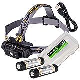 EdisonBright Fenix HL60R 950 Lumen USB Rechargeable CREE LED Headlamp (Neutral White), 2 X Fenix 18650 Rechargeable Li-ion Batteries BBX3 Battery Carry case Bundle