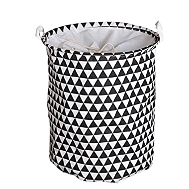 Cotton Foldable Waterproof Large Laundry Hamper Bucket with Lid Storage Dirty Clothes Toys for Kids
