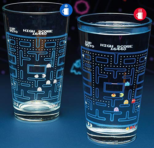 Paladone Pac-Man Colour Changing Pint Glass.