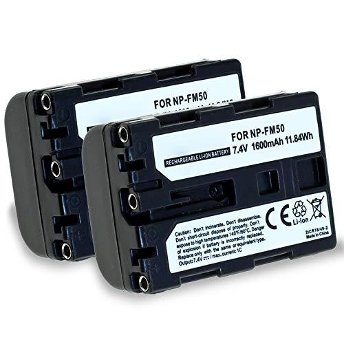 subtel® 2X Batería de Repuesto NP-FM55H NP-FM50 per Sony DSLR-A100 DSC-F828 F717...