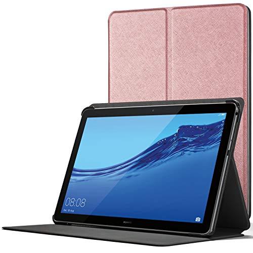 Forefront Cases Funda para Huawei Mediapad T5 10, Cover Estuche Protector con Cierre Magnético para Huawei Mediapad T5 10 Pulgadas 2018, Oro Rosa