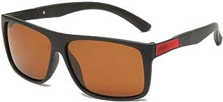 FJCY - Gafas de Sol polarizadas cuadradas retráctiles de conducción de Goma cuadradas Gafas de Sol Hombres Gafas de Sol polarizadas señoras hombres-Kmj806-C1