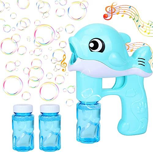 GUBOOM Seifenblasenpistole, Seifenblasenmaschine Kinder, Seifenblasen Spielzeug mit Seifenblasen Nachfüllflasche, für Kinder & Erwachsene, für Outdoor Party, Hochzeit, Sommerparty