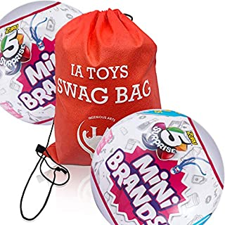 IP Ingenious Arts Swag Bag Featuring 5 Surprise Mini Brands (2 Pack) with Extra Toys for Girls Boys Activity Playtime and Family Fun!
