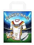 Bolsas para fiestas temáticas de rugby, para botín, eventos, colores de dragones catalanes (paquete de 6)