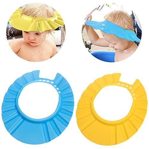 Cappello da Doccia per Bambini -WENTS Regolabile Sicurezza in EVA per doccia shampoo Cap Prevenire l'Acqua Flusso Verso Occhi e Viso