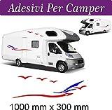 Lot de 2stickers pour Camper Van/camping-car, accessoires autocollants