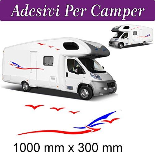 Lot de 2 stickers pour Camper Van/camping-car, accessoires autocollants