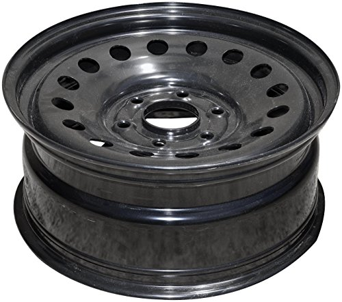 Dorman Black Wheel with Painted Finish (17 x 7.5 inches /6 x 5 inches, 30 mm Offset)