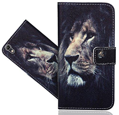 Alcatel Idol 4 (5.2 inch) Handy Tasche, FoneExpert® Wallet Hülle Flip Cover Hüllen Etui Hülle Ledertasche Lederhülle Schutzhülle Für Alcatel Idol 4 (5.2 inch)