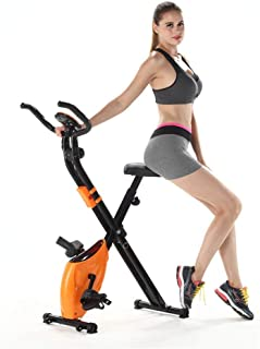 KANJJ-YU Upright Exercise Bikes Two-way Folding With Mobile Phone Box Magnetic Control Home Ultra-quiet Exercise Bike Fitn...