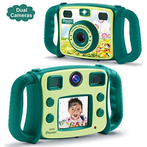 DROGRACE Bambini Camera Dual Lens Bambini Digital Video...