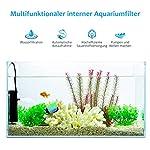 OMORC-Aquarien-Filter-Multifunktionaler-Aquarienfilter-Aquarium-Innenfilter-mit-2-Filterschwmmen-fr-60L-Aquarium-Schildkrte-Tank-Einstellbarer-Durchfluss-Leiser-Betrieb