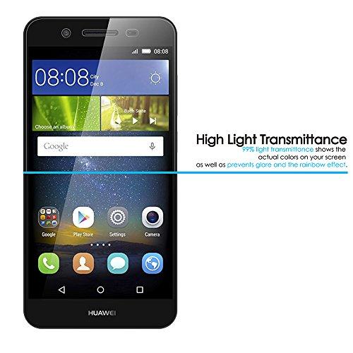 AICEK [2 Pack] Huawei P8 Lite Smart Schutzfolie, Touch Kompatibel Huawei P8 Lite Smart 5,0 Zoll Displayschutzfolie Panzerglas Displayschutz Screen Protector 9H Hardness Gehärtetem Glas - 5