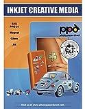 PPD Papier Magnétique Brillant, Impression Jet d'Encre, A4 x 5 Feuilles, PPD-31-5