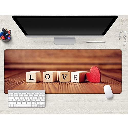 Alfombrilla de ratón de amor alfombrilla de ratón La impresión es clara de gran tamaño almohadilla del escritorio ultrafino lavable esteras del teclado mejor regalo 800x300x3 mm