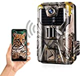 CAMVILD 【2021 Upgrade】 Trail Camera WiFi 24MP 1296P Hunting Game Cameras with Night Vision Motion Activated for Outdoor Wildlife Monitoring Waterproof IP66