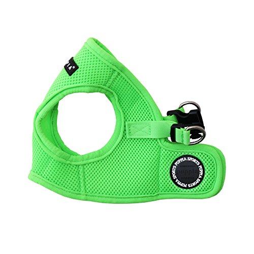 Puppia Authentic Neon Soft Vest Harness B, Green, Medium