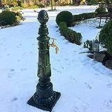 Antikas - Gartenbrunnen mit Wasserhahn - Nostalgie Zapfstelle Garten Brunnen