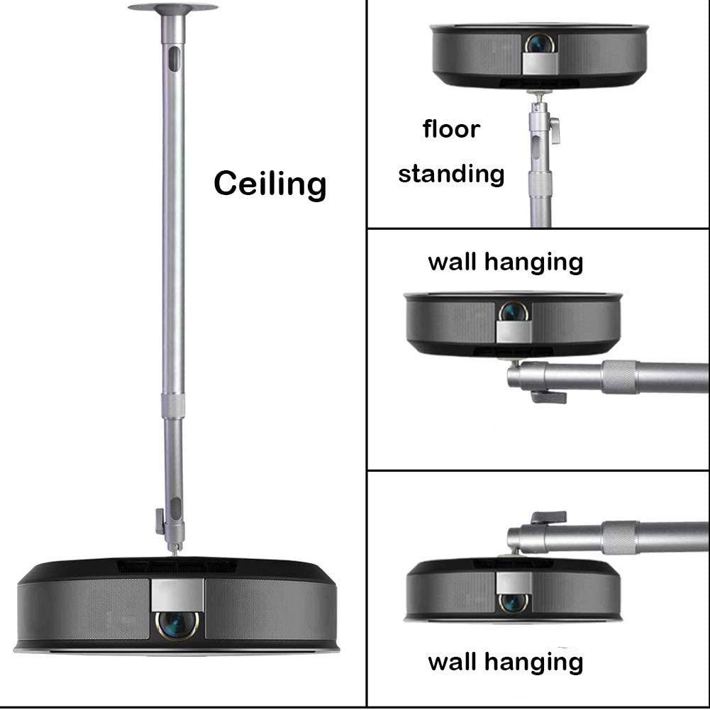 Universal Extending Projector Ceiling Mount Hanger 360/°Rotatable Head with Extendable Length 13.9 Inch to 23.6 Inch 11 lbs Load Mounting Bracket