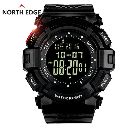 Msxx Military Watch, Multi-Functional Military Tactical Combat Watch, mit Pedometer, SUNTO Sensor, Big Screen, Altimeter, Barometer Easy to Read