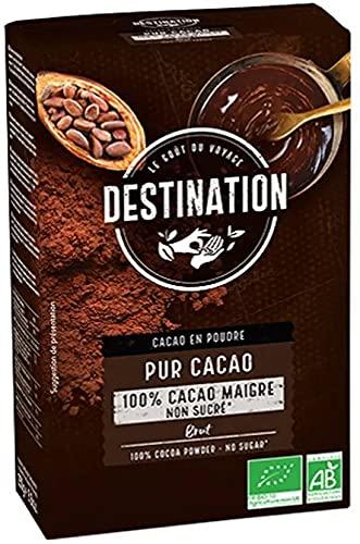 Cacao Puro 100% Bio. 11% de Materia Grasa. Pack 2 x 250g. Destination. Ecológico.