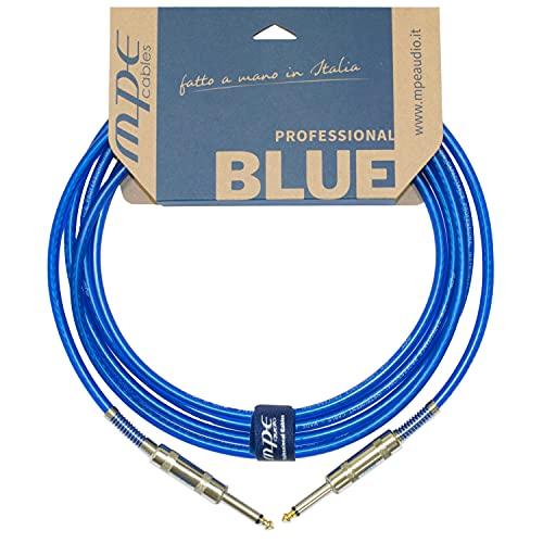 Cable jack guitarra electrica bajo instrumento TS Made in Italy soldado a mano Profesional Jack 6.3 mm derecho 3 metros