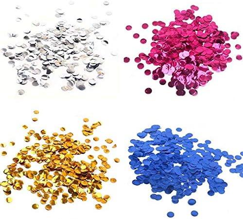2.5cm 10g/bag Metallic Rose Gold Mini Round PVC Confetti Dots Ba