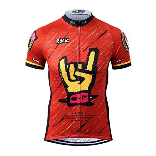 Thriller Rider Sports® Herren Rock Music Sport & Freizeit MTB Fahrradbekleidung Radtrikot Large
