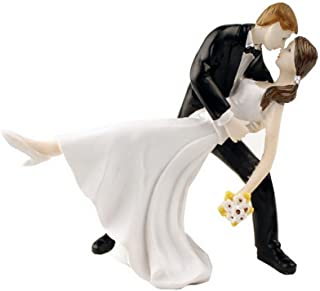acme A Romantic Dip Dancing Bride and Groom Couple Figurine Cake Toppers