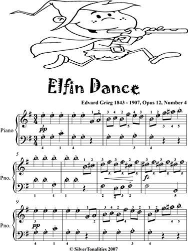 Elfin Dance Opus 12 Number 4 Beginner Piano Sheet Music (English Edition)