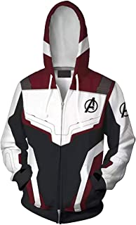 OLIPHEE Felpe con Cappuccio The Avengers: Endgame Felpa Costume Cosplay Giacca con Cappuccio Sportiva 3D Cool per Ragazzi ...