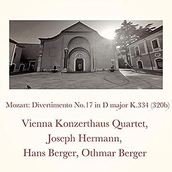 Mozart: Divertimento No.17 in D major K.334 (320b)