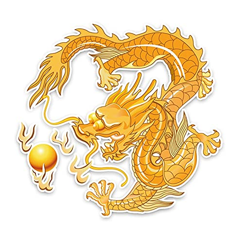 YLZH Etiqueta engomada del coche del color 14.7CM* 15.5CM de color chino dragón del viento gráfico del coche de la decoración de la etiqueta engomada del PVC