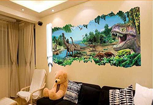 Personnalité De La Mode Jurassic Park Défilement Peinture Stickers Muraux Salon Salle Enfants Salle Simulation Dinosaur Empire Stickers Muraux-Big