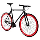 Golden Cycles Fixed Gear Bike Steel Frame Fixie with Deep V Rims-Collection (Viper, 52)