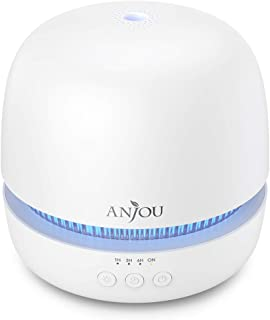 Essential Oil Diffuser, Anjou 300ml Ultrasonic Aroma Diffuser with Continuous Aromatherapy, Whisper-Quiet, 2 Mist Outputs,...