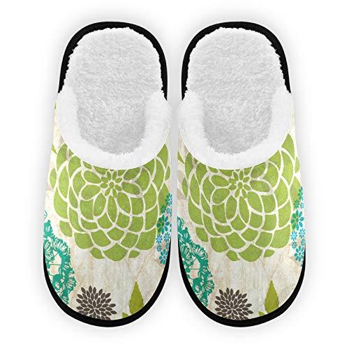 Zapatillas retro de colores para hombre y mujer, forro de felpa, cómodo, cálido coral polar, zapatos de casa para interior y exterior