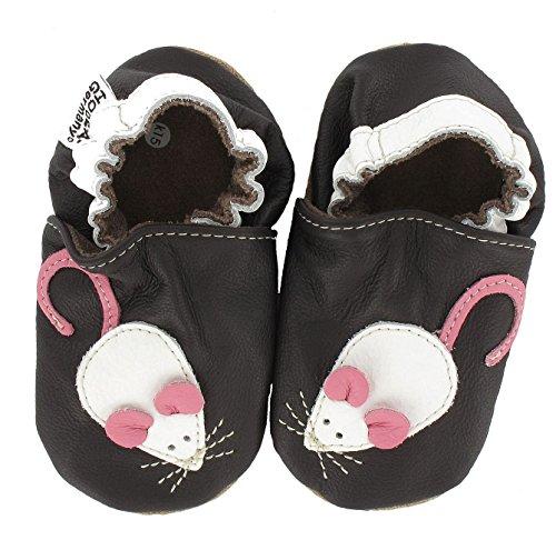 HOBEA-Germany Chaussures bébé Fille, Chaussures de Taille:18/19 (6-12 Monate), modèle Chaussures:Souris