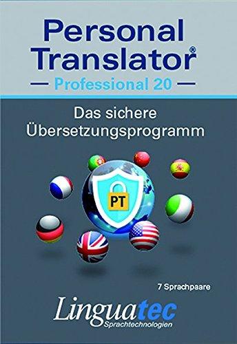 Personal Translator Professional 20: Preisgekröntes Übersetzungsprogramm mit 7 Sprachpaaren: Preisgekröntes Übersetzungsprogramm mit 7 Sprachpaaren ... English, Microsoft® Office Integration