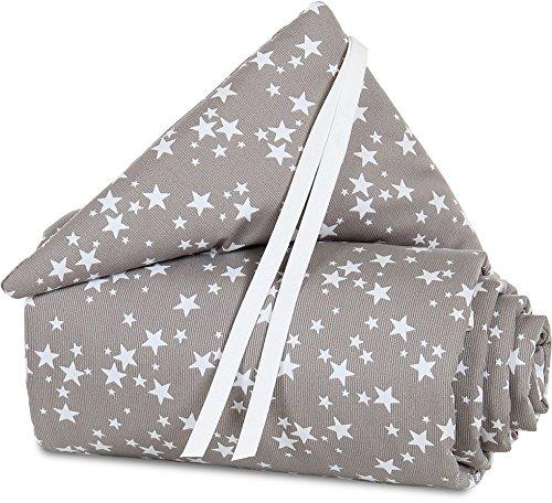 babybay Nestchen Piqué passend für Modell Maxi, Boxspring und Comfort, taupe Sterne weiß