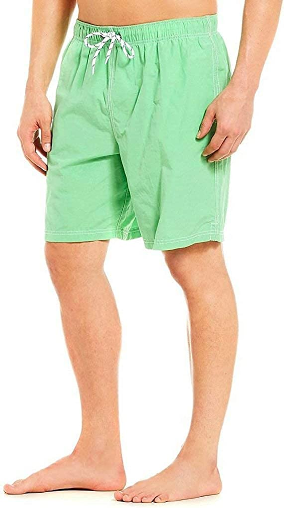 Roundtree & Yorke Men's Big & Tall Solid Color Swim Trunks