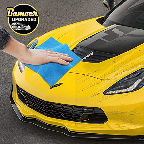 Bamoer [Upgraded Scratch Remover Cloth,Multipurpose Car Paint Scratch Repair Cloth,Car Scratch Removal Cloth,Magic Paint Scratch Remover for Surface Repair,Scuffs Remover,and Strong Decontamin