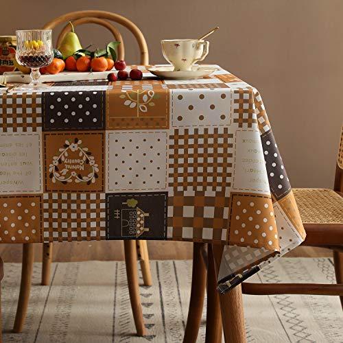 Joyfol Day Country Checkered Dots Rectangle Tablecloth,Farm...
